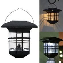 VKTECH Solar Power LED Outdoor Garden Landscape Path Way Hook Lamp Wall  Mount Lantern