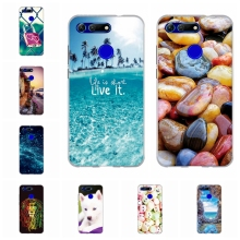 For Huawei Honor View 20 Case Soft TPU Silicone V20 V Cover Love Patterned Bumper Coque