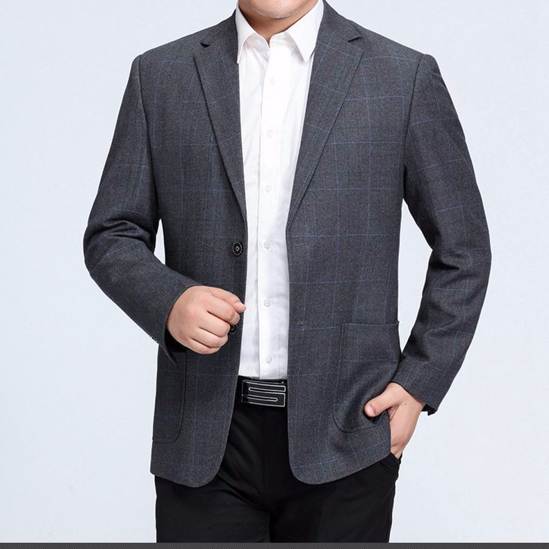 Man Paid Basic Blazer Gray Black Navy Blue Red Suit Jackets Men Casual Blazers Business Office Outfits Short Slim Fit Suit Blazers 2016 (13)
