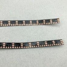 Черная гибкая печатная плата(без светодиодов) для SK6812/WS2812 74 светодиода/м адресуемый пиксельный панельный светильник