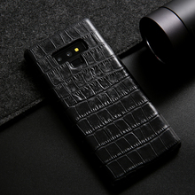 Note9 Luxury Genuine Leather Case for Samsung Galaxy Note 9 Crocodile Cowhide Pattern Fashion Cover