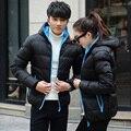 2016 Теплый Пиджаки Зимняя Куртка Мужчины Ветрозащитный Капюшон Мужчины Женщины любовь Размер Куртка Высокого Качества Куртка 6 Цвета Плюс Размер S-4XL
