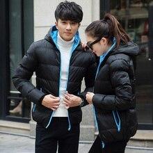 2016 Warm Outwear Winter Jacket Men Windproof Hood Men Women Love Jacket Size High Quality Jacket 6 Colors Plus Size S-4XL