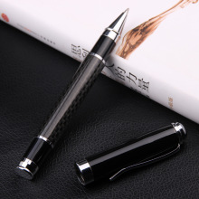 Luxury carbon fiber black roller ball pen stationery executive office supplies writing pens 6848 стоимость