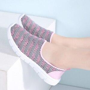Image 5 - STQ 2020 여름 여성 신발 여성 통기성 메쉬 스 니 커 즈 신발 발레 플랫 숙 녀 슬리퍼로 퍼 신발 플러스 크기 E39