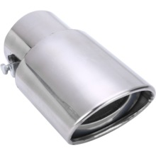 Universal Car Rear Round Exhaust Pipe Tail Muffler Tip Chrome Stainless Steel Automobile Replacement Accessories