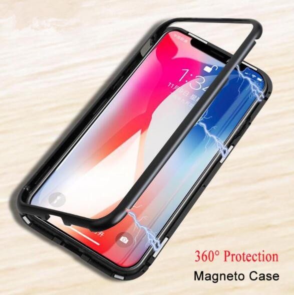 MXHYQ luxury flip Glass Magnetic attraction phone case cover case for iphone X 6 7 8 7 PLUS 8 PLUS 6 PLUS for phone cases