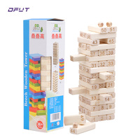Wooden Blocks Game Stacking Blocks Stacking Tower stacking board games for kids ages 4 8 With 51 pieces For a Fun Outdoor