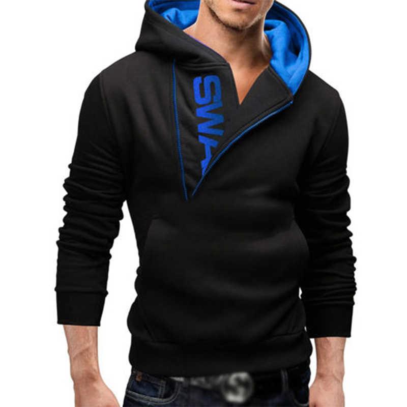 남자 축구 유니폼 지퍼 편지 인쇄 남자의 겉옷 가을 겨울 남자 운동복 피트 니스 스웨터 겉옷 4XL YC660717