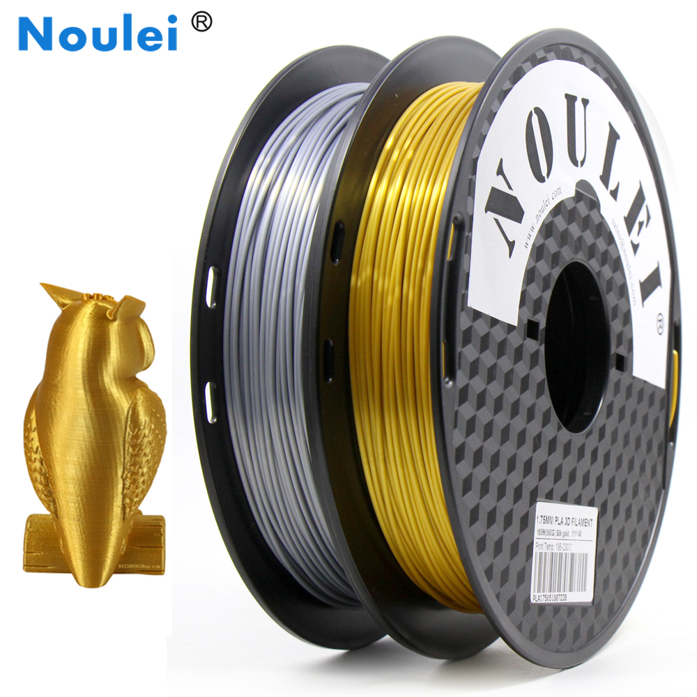 Intellektuell Noulei 3d Print Filament 1,75mm Pla Seidige Gold 0,5 Kg Seide Wie Fühlen Reiche Glanz Kupfer Goldene Silber 500g Drucker Materialien