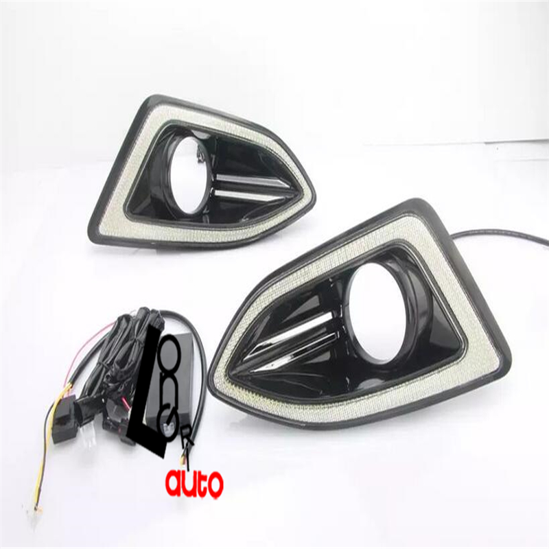 car styling Auto  LED Daytime Running Lights For Ford Edge 2015 DRL