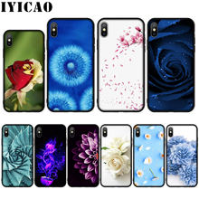 XR IYICAO flor Silicone Soft Case para o iphone X XS Max 8 7 6 6 S Plus 5 5S SE cobrir(China)