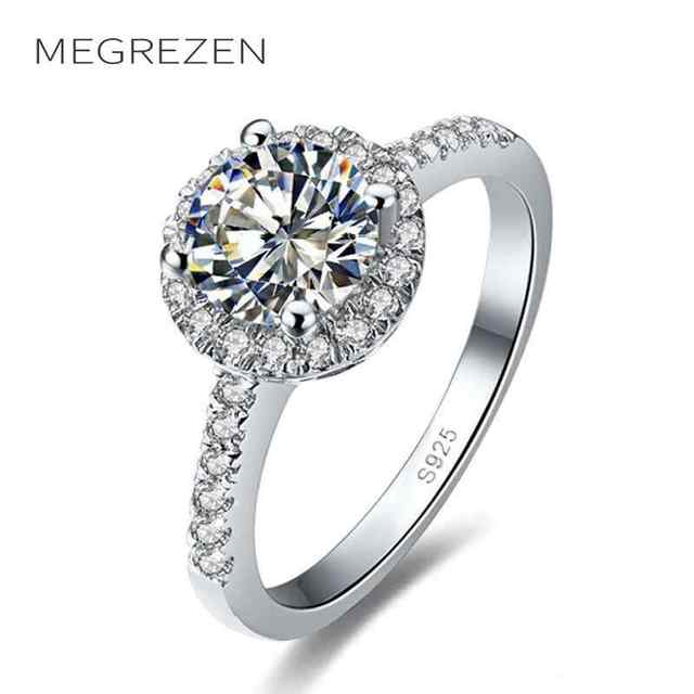 megrezen cubic zirconia engagement ring costume jewelry rings for