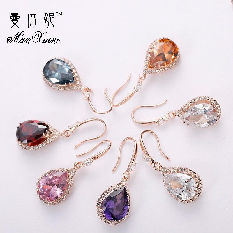 Manxiuni New Earrings For Aretes Largos Baroque Big Long Earrings For Women Pendantes Christmas Water Drop Crystal Earrings