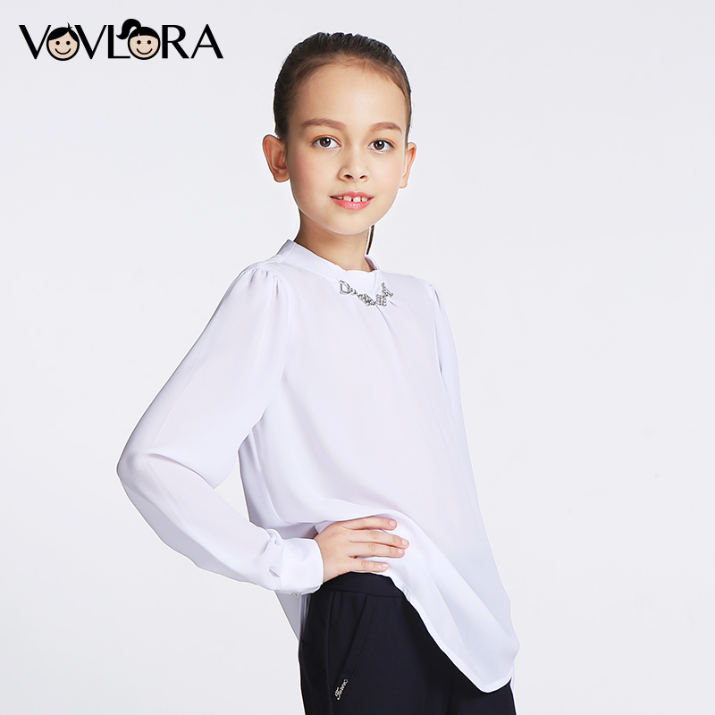 Фото девчачья школьная рубашка с переливоми фото 420-714