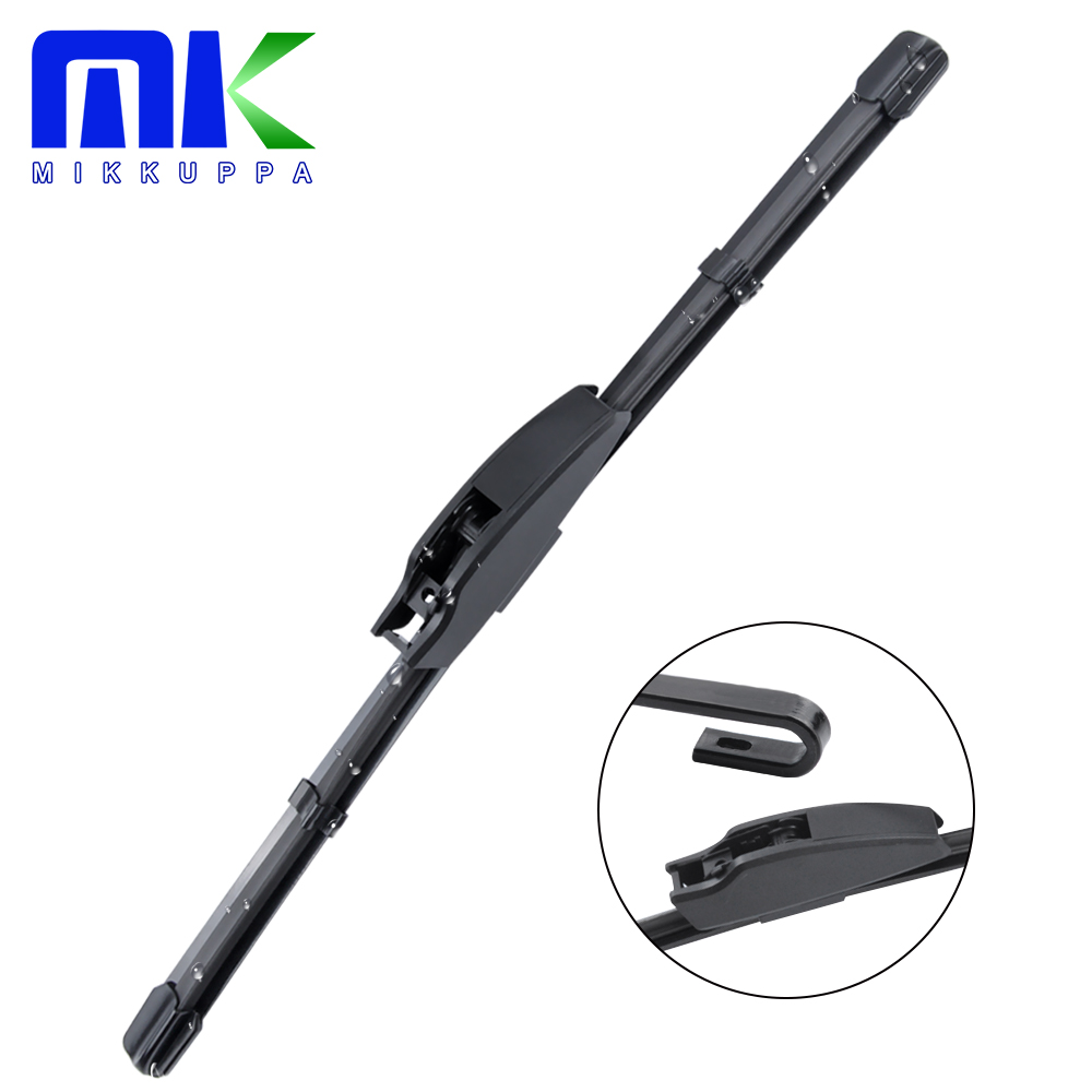MIKKUPPA 1Pc Car Windshield Wiper Blade Fit Standard Hook Arms for Toyota Corolla KIA Sportage Honda CRV(China)