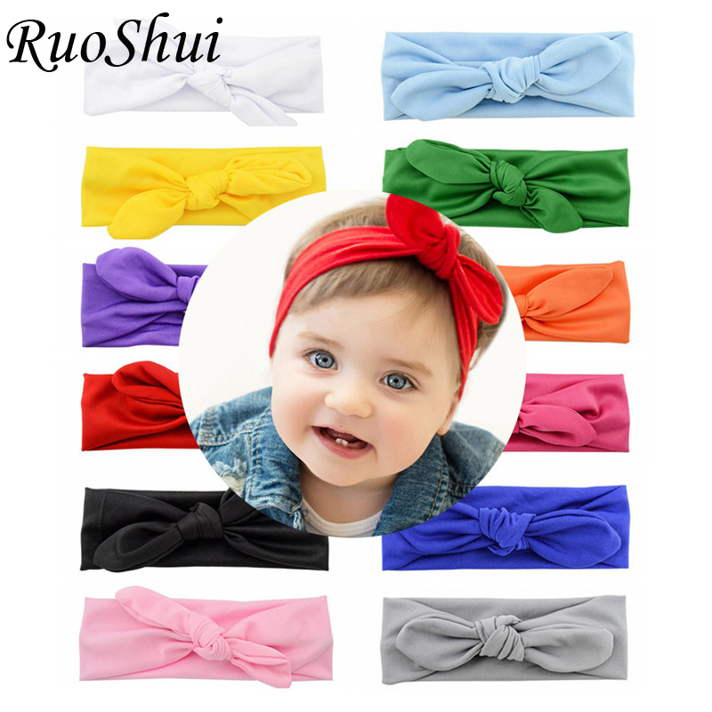 Cute Kids Headband Bow for Girl Rabbit Ear Hairbands   Headwear   Knot Kids Hair Accessoire Turban Head Wraps Headband Baby Girl