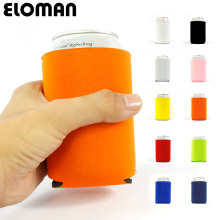 12PCS beer can cooler sleeve ELOMAN wedding party decoration solid color koozies custom cheap bottle cozy holder gift
