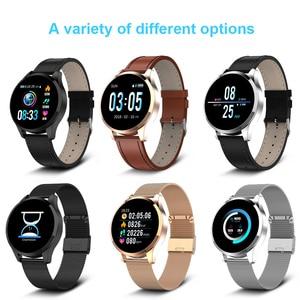 Image 5 - Q9 montre intelligente hommes étanche Message rappel dappel Smartwatch femmes moniteur de fréquence cardiaque mode bracelet Fitness Tracke.