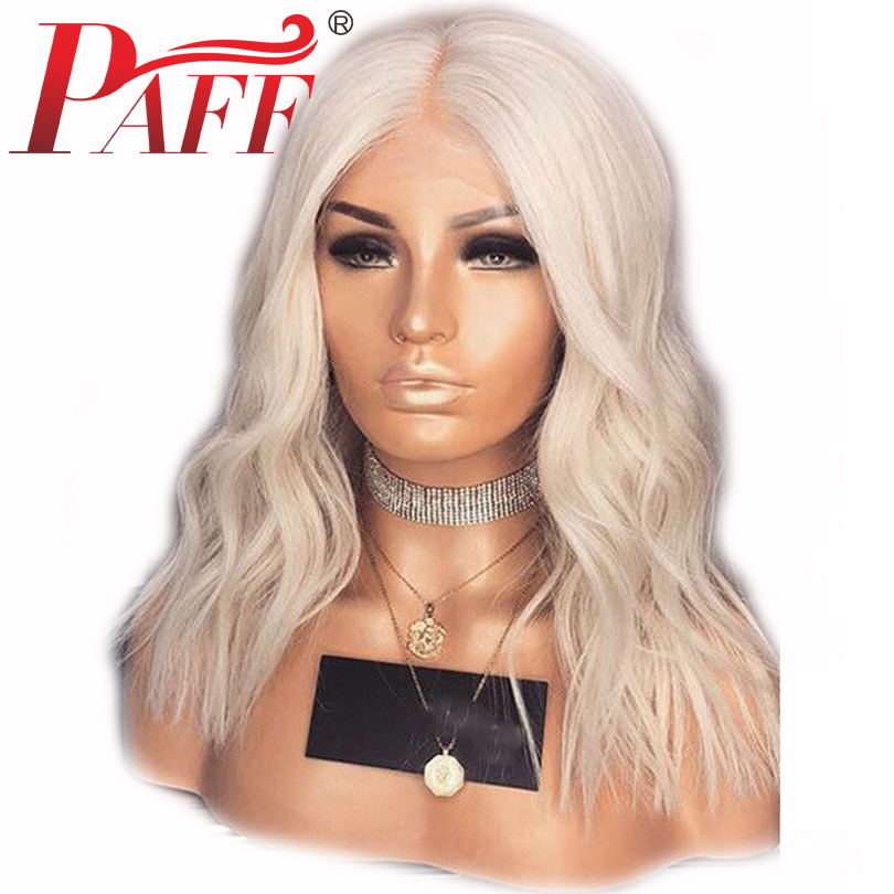 PAFF Body Wave 613 Blonde Full Lace Human Hair Wig Middlle Part Remy Brazilian Hair Glueless