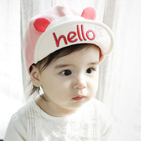 Baseball Caps Kids Children Hats Cartoon Cotton Flat Brim Baby Girls Boys Snapback Hip Hop Hat