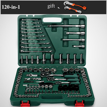 120-in-1 Combination Repairing  Kit Handtool Set for Auto Motorcycles Generator Engine Tyre Socket Rachet Wrench  Hand Tool