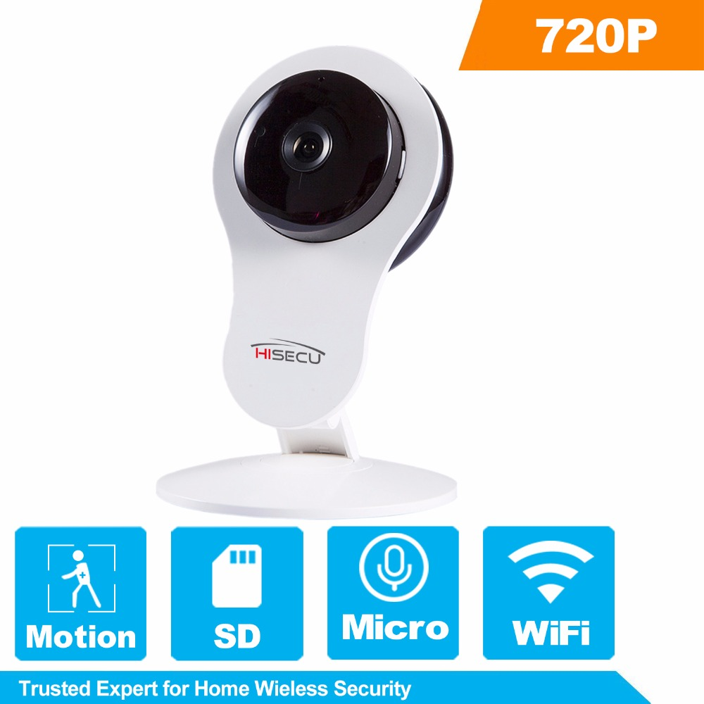 HiSecu Home WiFi IP Camera Night Vision Wireless 720P 110 Two-way Audio Video Monitor Smart Webcam Indoor Security Camera