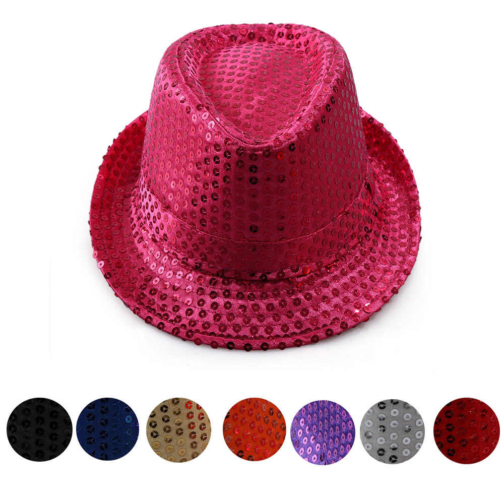 580892d6b46 Detail Feedback Questions about 60cm Women Jazz hat Sequined Elegant  Crochet sequins girl cap Dance Stage Show Performances hand stitching  chapeau Skullies ...