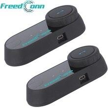 2pcs FreedConn Original T COM FM Bluetooth Motorcycle Helmet Intercom Interphone font b Headset b font
