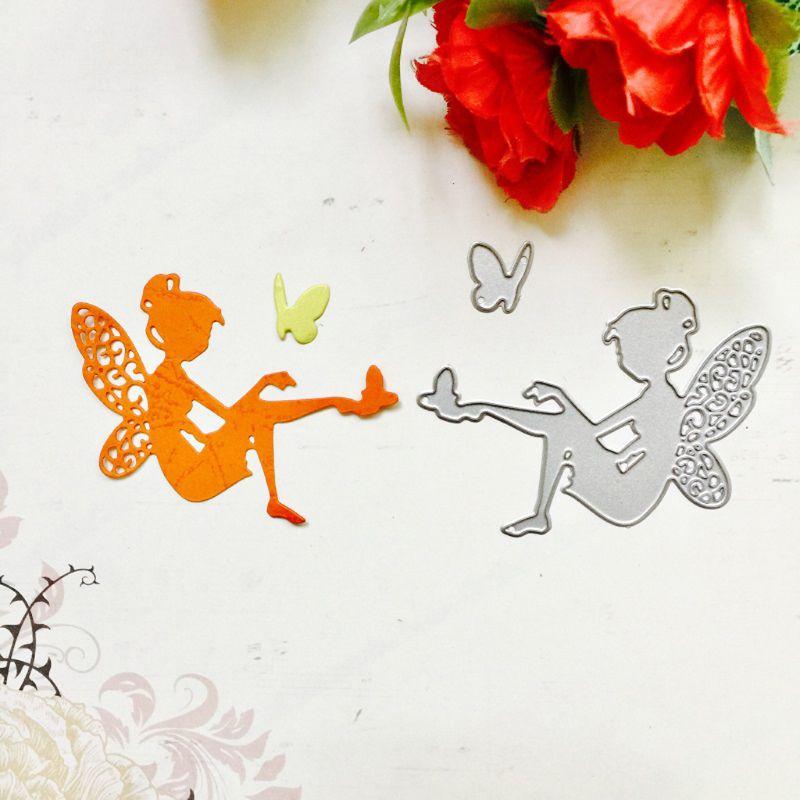 Fairy Cutting Dies Stencil Scrapbook Album Paper Card Embossing Craft Decoration