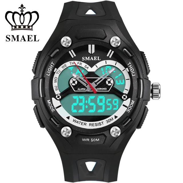 2017 SMAEL Brand Children Watches Sports Waterproof Child Electronic LED Watch Safe Girls Boys Toy Watch Best Gifts 1339