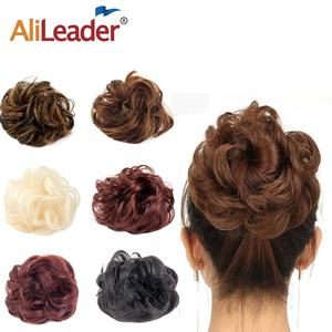 AliLeader Curly Hair Chignon Heat Resistant Fiber Black Brown Women Synthetic Updo Hair Buns Wig Lady Chignons for Brides/Party(China)