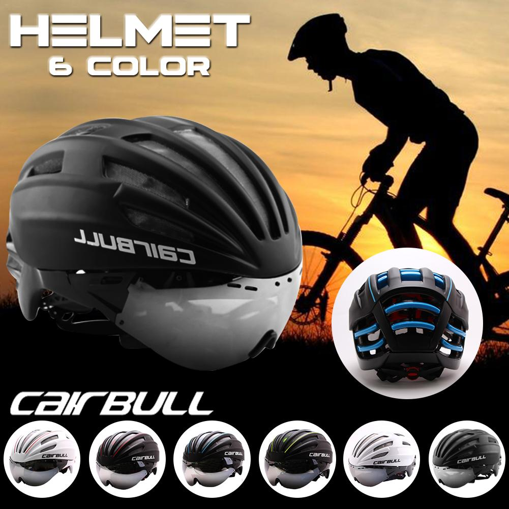Bike Helmets Riding Racing Time-Trial Safety Helmet CAIRBULL Ultra Light Aero Goggles Road Bicycle Helmet Cycling Bike Sports 2018 cairbull lightweight bicycle helmet breathable road racing helmets sports safety all terrai cycling helmet m l black white