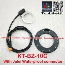 KT BZ-10C PAS Sistemi Pedalı Yardımcısı Sensörü 10 Mıknatıslı 3 pinli Julei su geçirmez konnektör veya SM-3Y bağlayıcı 80cm uzunluk