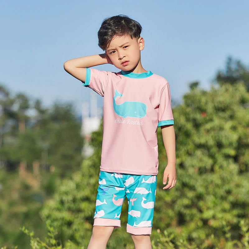 Swimsuit Children's Boy Kids Baby Bikini Swimwear For Children Clothes Split Boys Sports Animal Polyester FMZXG Kid's