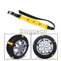 10X Car Wheel Snow Chains For Peugeot 307 206 308 407 207 2008 3008 508 406 208 For Fiat 500 Punto Stilo Bravo Accessories