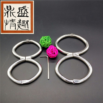 Erotic toys stainless steel bdsm bondage adult games for couple sex toys bdsm slave steel handcuffs sex products bdsm fetish.