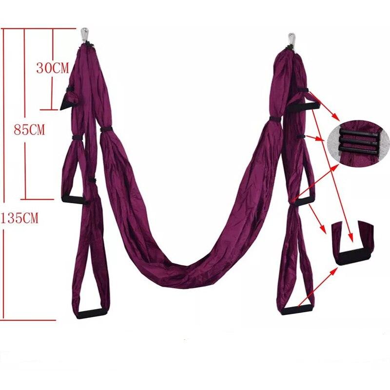 2019 nouveau haute qualité intérieur 210 T rides flash Nisi rotation air yoga fitness parachute tissu anti-gravité yoga hamac