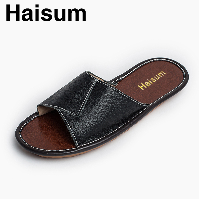 Men's Slippers Spring And Summer genuine Leather Home Indoor Slip Non-slip Slippers 2018 New Hot Kh001 лампа светодиодная e27 10w 2700k груша матовая 23210