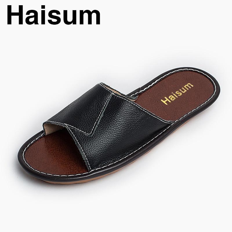 Men's Slippers Spring And Summer genuine Leather Home Indoor Slip Non-slip Slippers 2018 New Hot Kh001 rolsen t 4060tsw