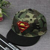 Fashion Hip Hop Superman Snapback Caps Camo Hats For Men Women Summer Casual Outdoor Baseball