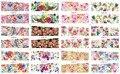Бесплатная доставка 156 Конструкции 12 Листов/Lot Красочные АКЦИИ Смешивать Стили Цветок Переноса Воды Nail Art Наклейки Надписи BN01-BN156