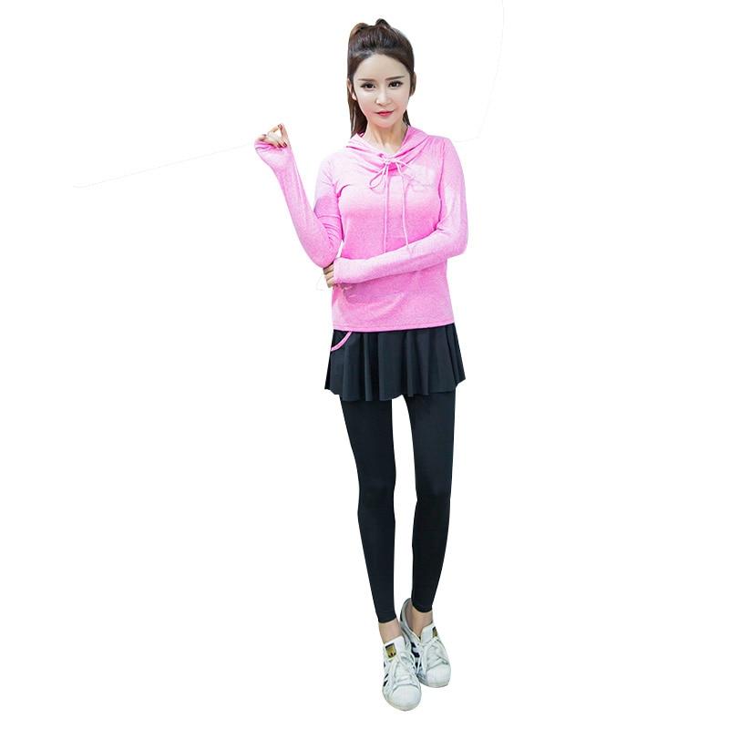 Pulsuz çatdırılma Qadın Yoga 3 parça İdman geyimləri fitness - İdman geyimləri və aksesuarları - Fotoqrafiya 6