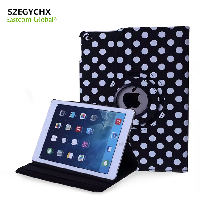 Dot Tablet Case For iPad Mini 1/23 Case 360 Rotation PU Leather Case for Apple Smart Cover Mini 123 Flip with Stand Function/ new rotation 360 degree rotating leopard flip stand pu leather protective skin cover case for apple ipad mini 1 2 3 7 9 tablet