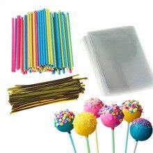 Lollipop Sticks Pop Treat Bag Set Plastic Sucker Cake for Lollypop Candy Chocolate Sugar DIY Mold Tool