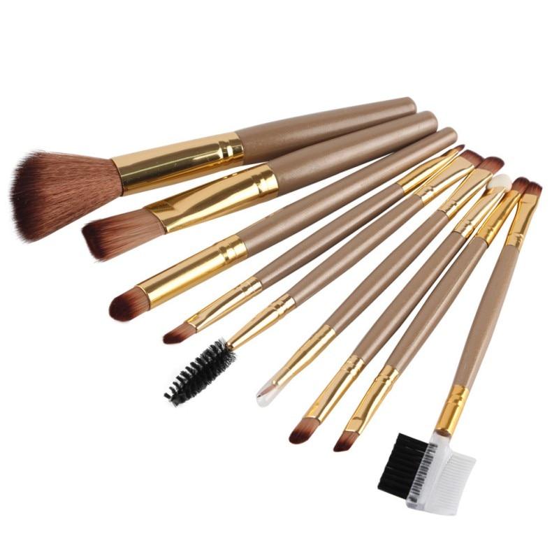 9 개 세트 Eyeshadow Eyeliner Lip Beauty 메이크업 브러쉬 세트 여성 기초 메이크업 아이 브러쉬 세트 화장품 EE4JH2 V2