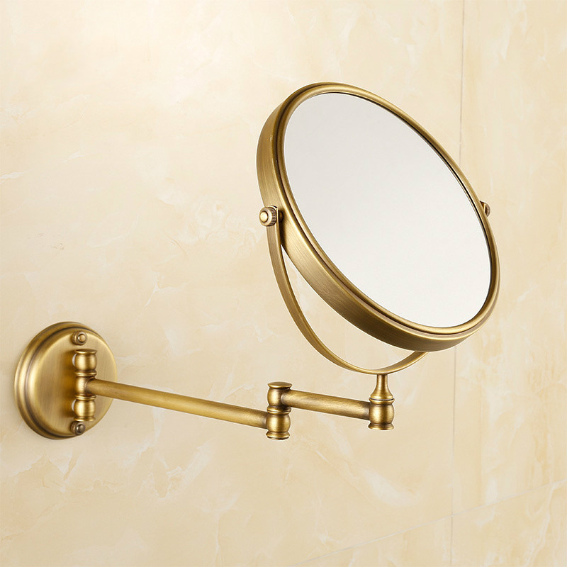 Antique Bronze Copper Elegant 8 Inch Bathroom Mirror Magnifier Beauty Bathroom Mirror Bathroom Hardware anariti лифтинг сыворотка для лица и шеи с экстрактами мяты и алоэ вера anariti 19090 100 мл