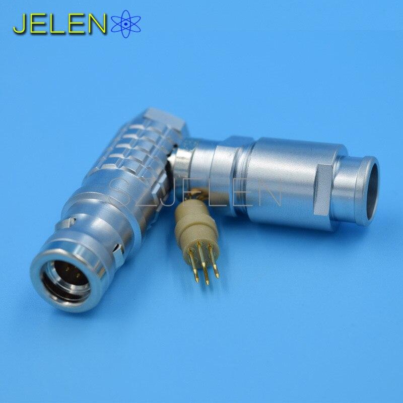ФОТО 90 degree elbow plug 6 pin , LEMO Waterproof Connector 6-pin plug , FHG.1K.306.CLAD , Medical plugs, auto waterproof connector