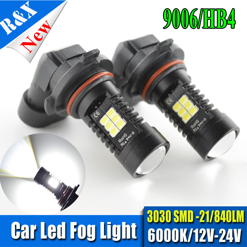 2pcs 9006 LED HB4 auto Vehicles 3030 21SMD  Lamp car Fog Head Bulb automobiles parkingTail Daytime Running Lights White 1pcs h1 led good 80w white car fog lights daytime running bulb auto lamp vehicles h1 led high power parking car light source