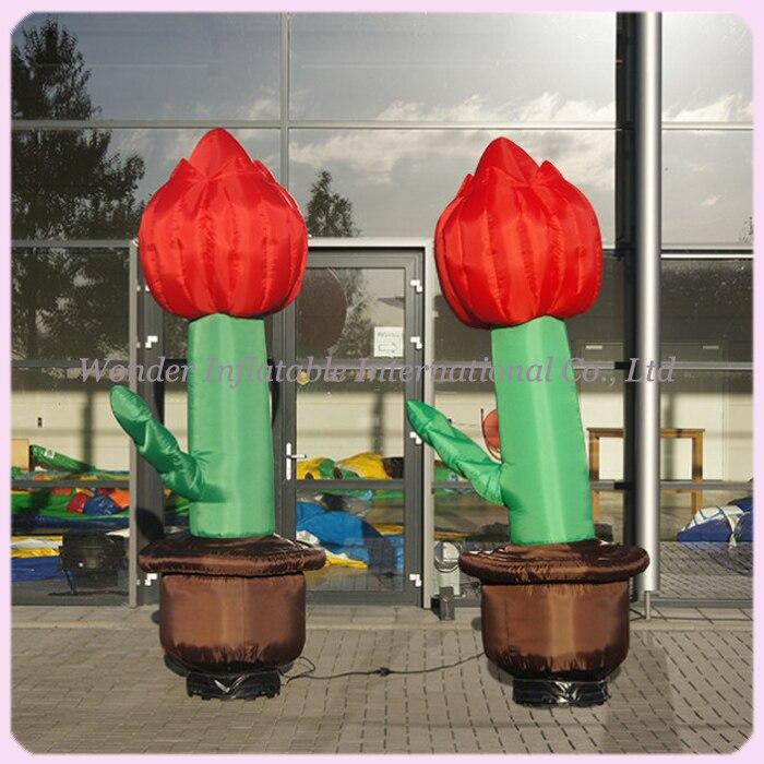 Aangepaste 2m gigantische opblaasbare tulpen voor - Feestversiering en feestartikelen - Foto 1